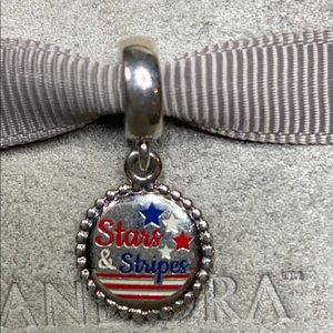 PANDORA 🇺🇸Stars & Stripes🇺🇸 Dangle Charm, NWT